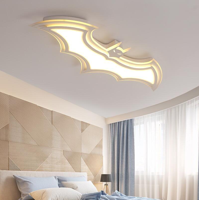 Moderna Dimming Batman ha portato a soffitto luci ultra sottile lampada acrilica del soffitto bianco dei ragazzi delle ragazze dei bambini del bambino scherza la stanza di luce Lustres