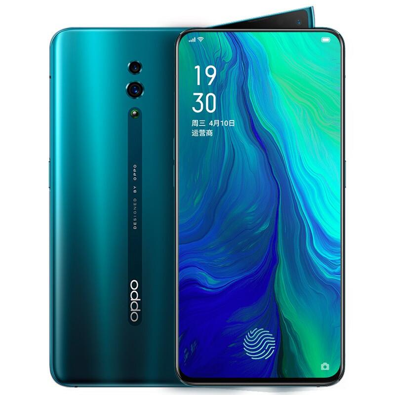 "Original OPPO Reno 4G LTE Cell Phone 8GB RAM 256GB ROM Snapdragon 710 Octa Core Android 6.4"" Full Screen 48.0MP Face ID Smart Mobile Phone"