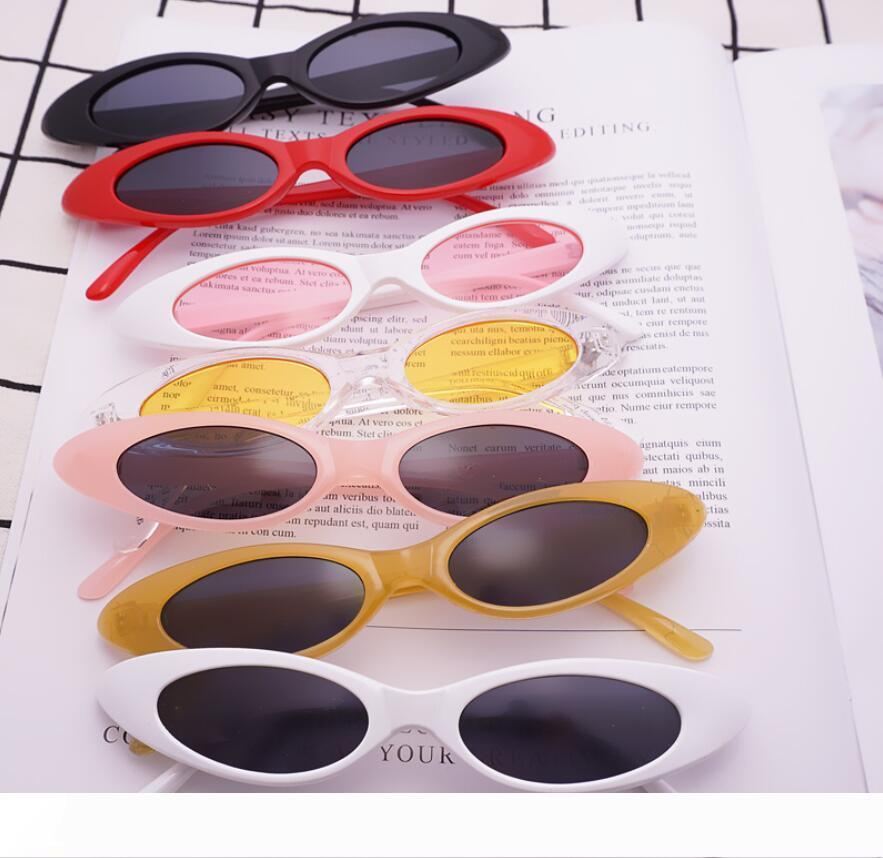 Kedi Göz Güneş Küçük Boy Çerçeveli Su damlacıkları Jelly Trend Güneş Vintage Güneş açık gözlük ucuz satış spor daraltmak oval
