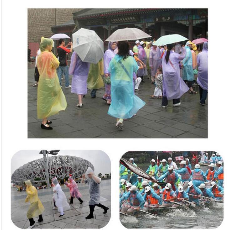 De una sola vez el impermeable caliente de la manera ropa impermeable poncho desechable viaje capa de lluvia Lluvia desgaste viajes capas de lluvia OOA7005-6