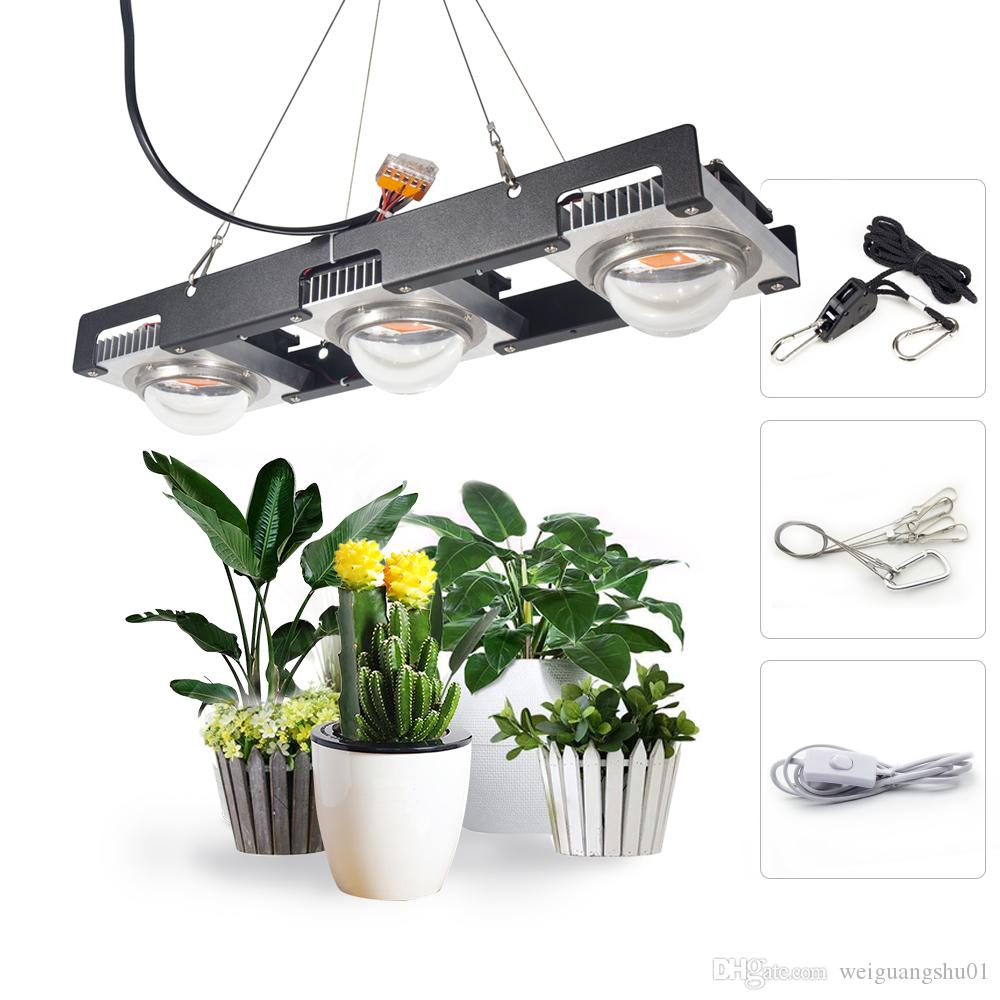 COB LED Grow Light Full Spectrum Actual Power 50W 100W 150W LED Plant Grow Lamp for Indoor Plants Veg & Flowering Stage