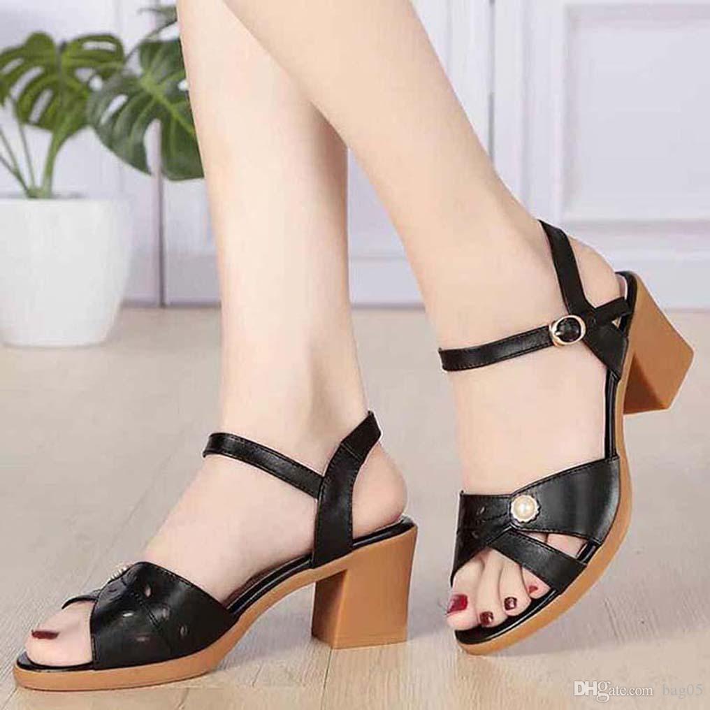 talloni delle donne dei sandali di alta qualità sandali dei pistoni Huaraches Flip-Flops scarpa Mocassini per il pistone bag05 PL556
