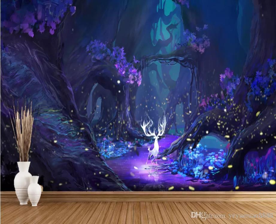 Custom Starry sky 3D Mural Wallpaper Living Room Home Decor wall paper for kids room mural wallpaper sticker