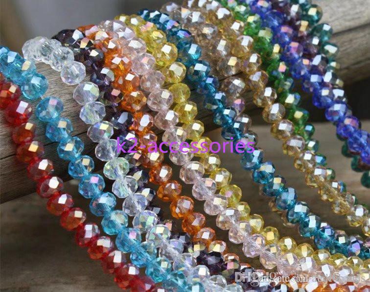 AB Cristal multicolor abacus cuentas de cristal cuentas sueltas colores tallados joyería