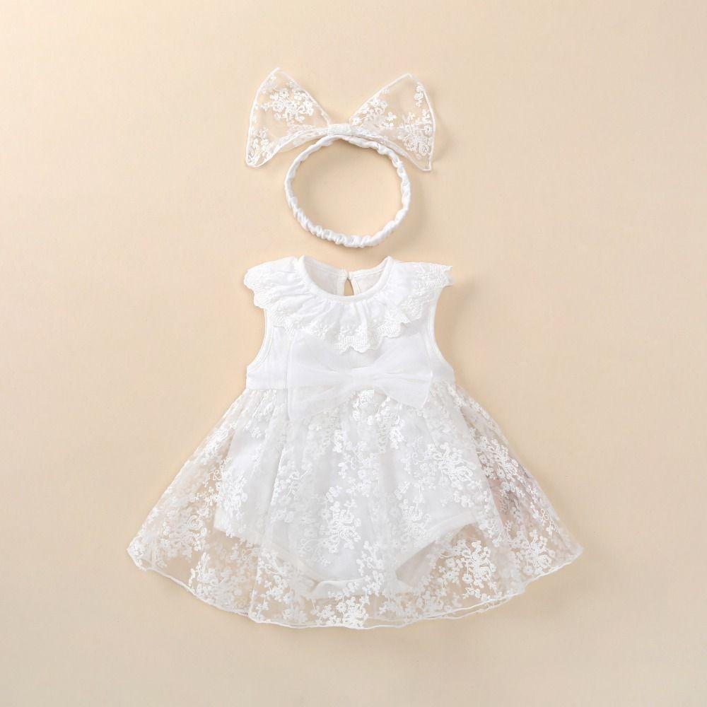 Toddler Baby Girls Summer Beach Dress Polka Dot V-neck  Princess Wedding Dresses