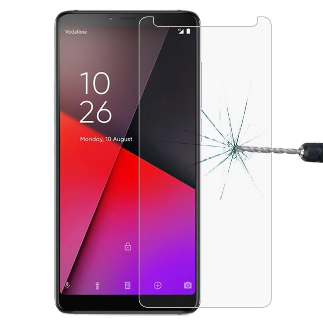 0.26mm 9H 2.5D Película de vidrio templado a prueba de explosiones para Vodafone Smart X9