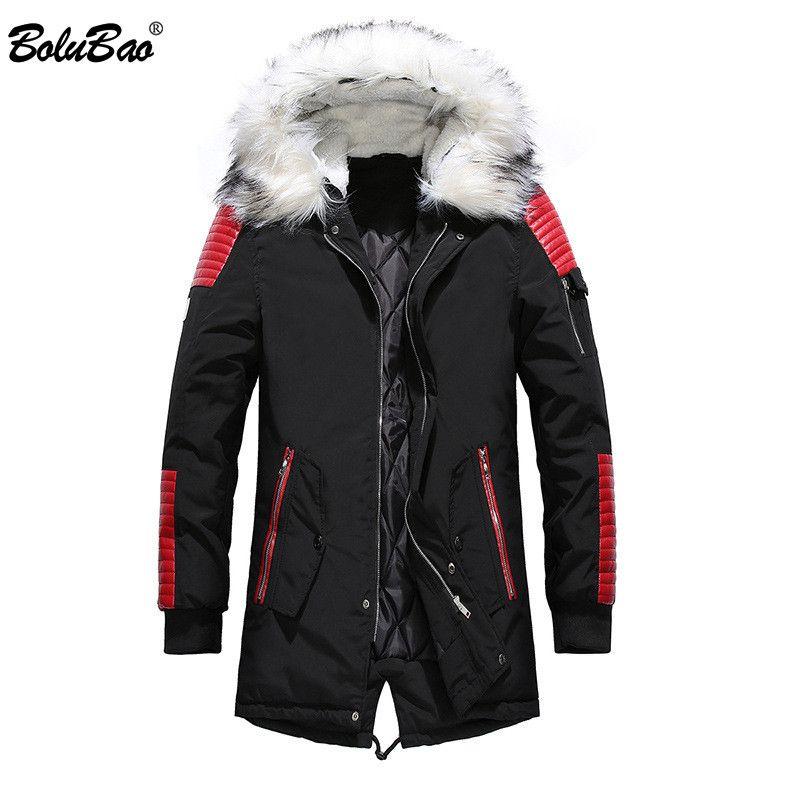 BOLUBAO Uomo Marca Warm Parka 2018 Inverno Maschio Ispessimento Casual Cappotto Abbigliamento Giacche Uomo Parka Coa