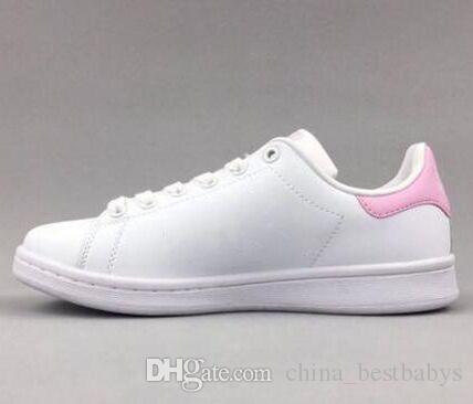 Fast Shipping Marca Top mulheres qualidade homens novos sapatos stan moda smith sapatilhas ocasionais esporte couro presente Running sapatos, 01