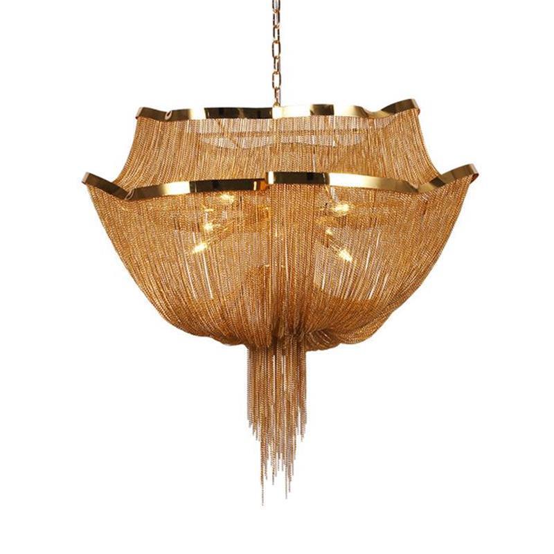 Классический подвесной светильник алюминиевый кисточкой золото серебро висит подвесные светильники над островом для гостиной столовой