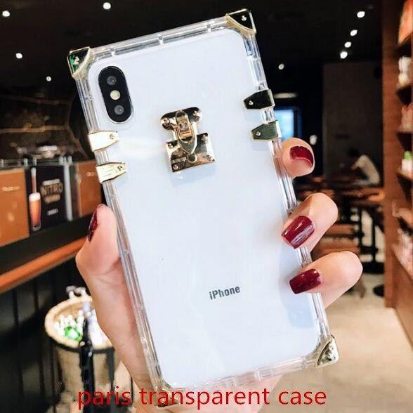 Coque IPhone De Créateur De Mode Pour IPhone X 6 7 8 Plus Xr Xs Max Ultra Transparent Cases Avec Populaire Lettre De Couverture De Téléphone Proposé ...