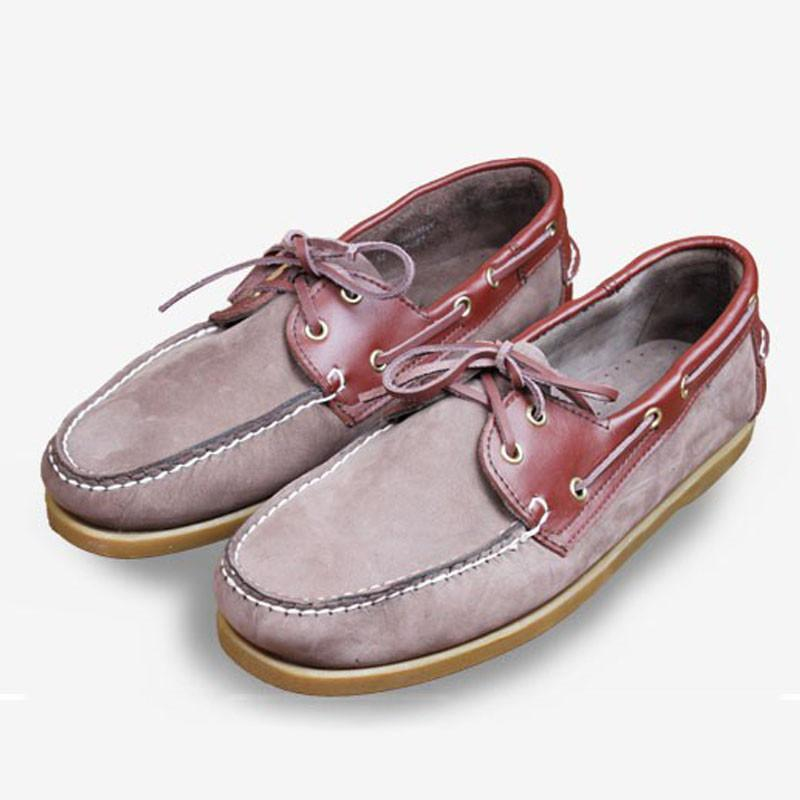 Arbeiten Sie echtes Leder-Mann-Loafers Bequeme Herren-Freizeitschuhe Anti Slip Durable Mokassins Driving Schuhe 6 # 21 / 20D50
