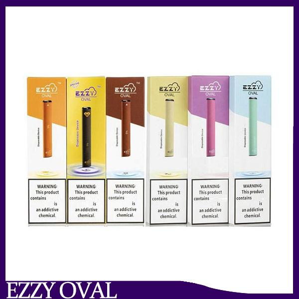 EZZY OVAL Disposable Device Pod Starter Kit Upgraded 280mAh Battery 1.3ml Cartridges Vape Pen VS Puff Plus Bar POP