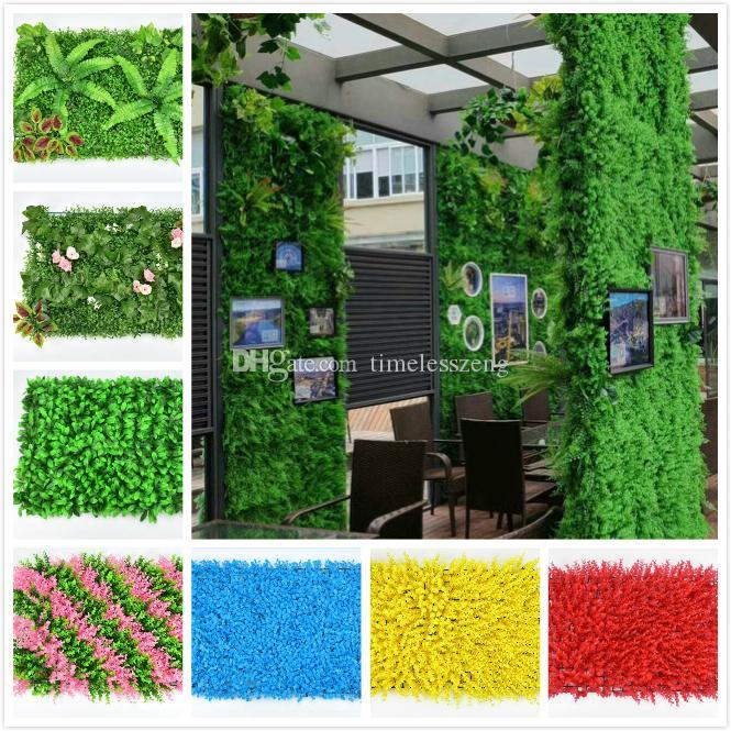 بيئة اصطناعية العشب الاصطناعي العشب الاصطناعي الملونة دائم بلات جدار العشب البلاستيك حساسة للزينة حديقة الزفاف
