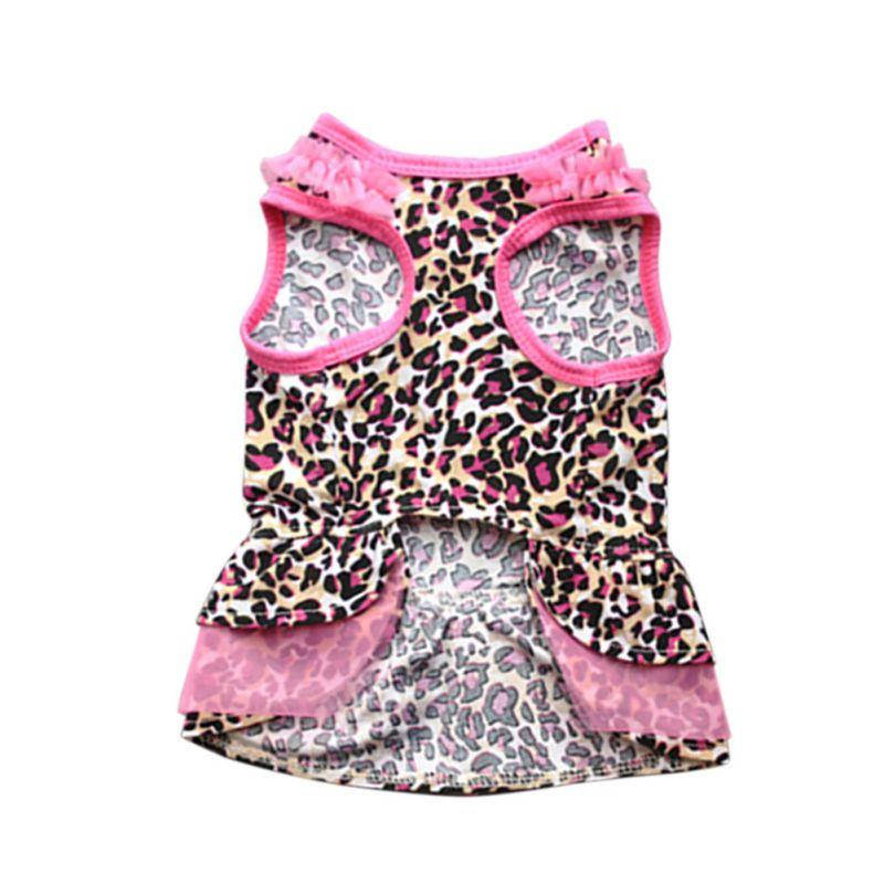 Leopard Pattern/I Love My Mommy Printed Puppy Dog Cat Shirt Dress Clothes Lovely Cute Pet Costumes