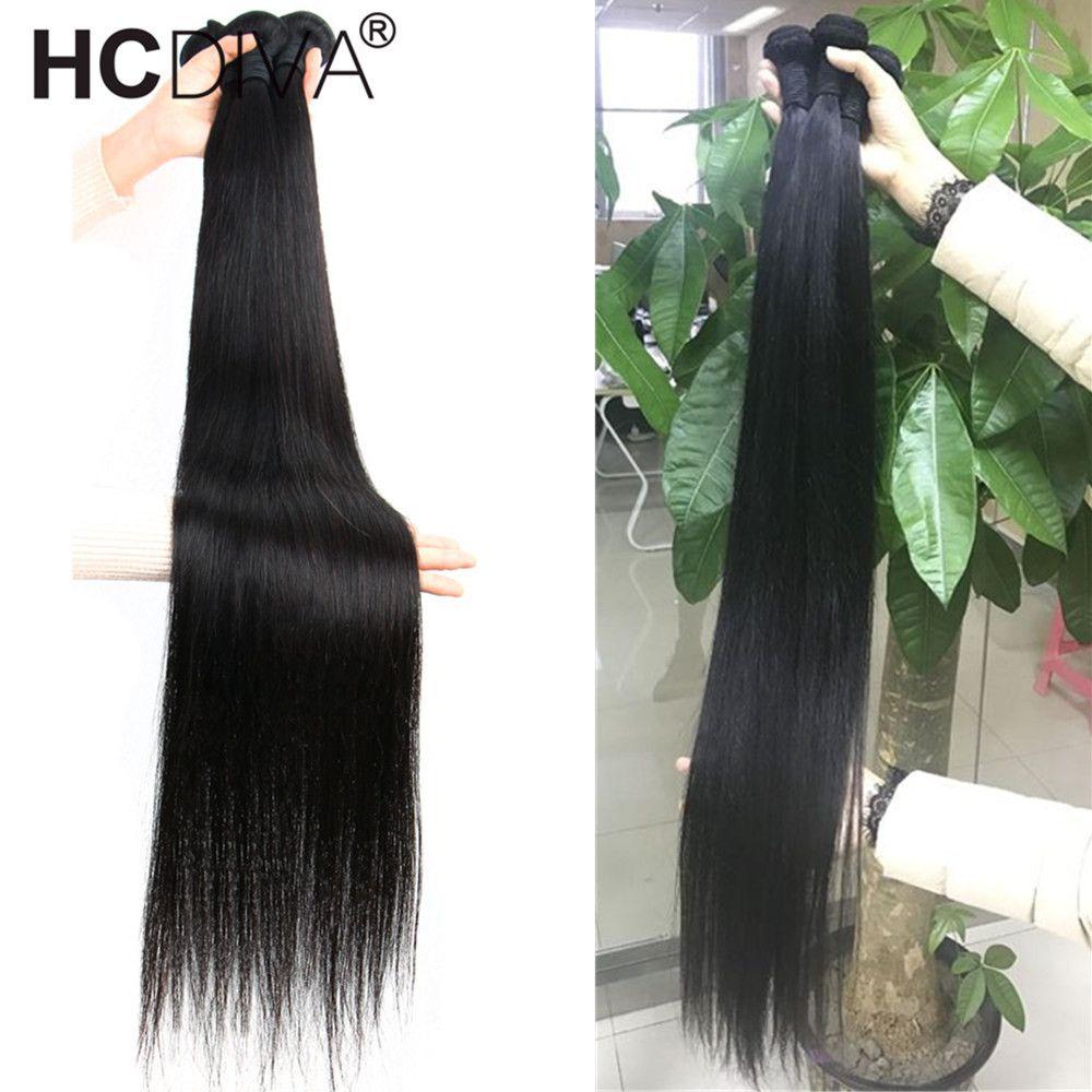Brezilyalı düz 3 demetleri ucuz insan saç uzantıları 100% gerçek insan saç dokuma 30 32 34 36 38 40 inç hızlı ücretsiz kargo