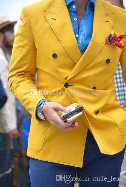 Apuesto padrinos de Double-Breasted smokinges del novio de la boda vestido de hombre Hombre chaqueta de la chaqueta de baile Cena 2 piezas traje (chaqueta + pantalones + lazo) A201