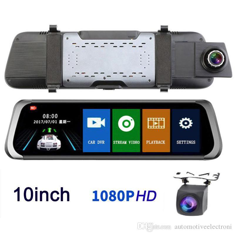 Dual Lens 10/'/' HD LCD Car DVR 1080p Video Camera Recorder Dash Cam Night Vison