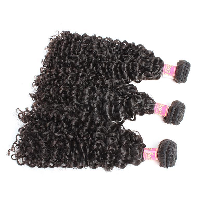 벨라 Hair®의 3PCS / 많이 곱슬 웨이브 되죠 100 % 말레이시아 헤어 처리되지 않은 버진 자연 색 인간의 머리 씨실 무료 배송