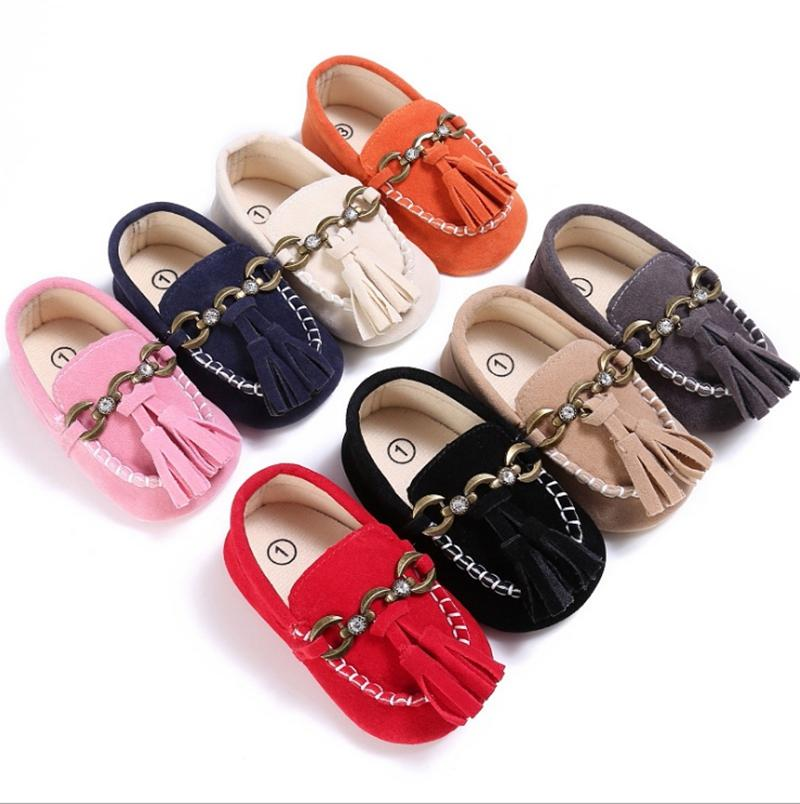 Kids Designer Shoes Cotton Toddler Girls First Walkers Flat Princess Peas Shoes Newborn Baby Moccasins Baby Shoes 8 Colors Optional YW3323Q