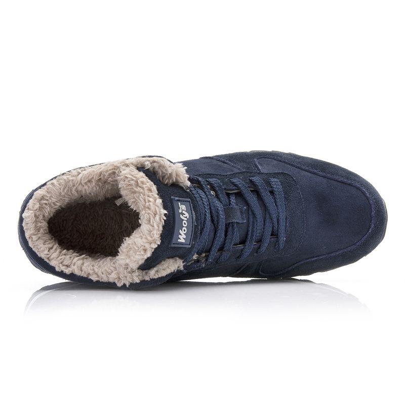 2019 الرجال عارضة أحذية شتاء دافئ وصول أحذية القطن القطيفة أحذية الثلج الجديد فلوك ربط الحذاء حتى الرجل الأحذية