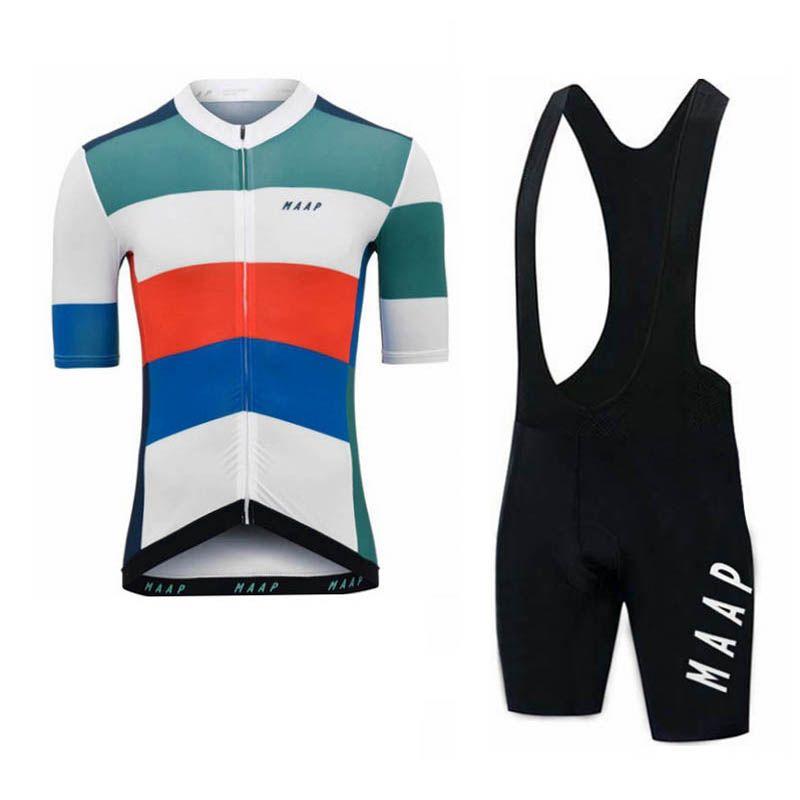 Cycling Jersey MAAP squadra Uomini Set 2020 Estate traspirante MTB uniforme uniforme bicicletta della strada asciutta rapida esterna sportivo Y20031303