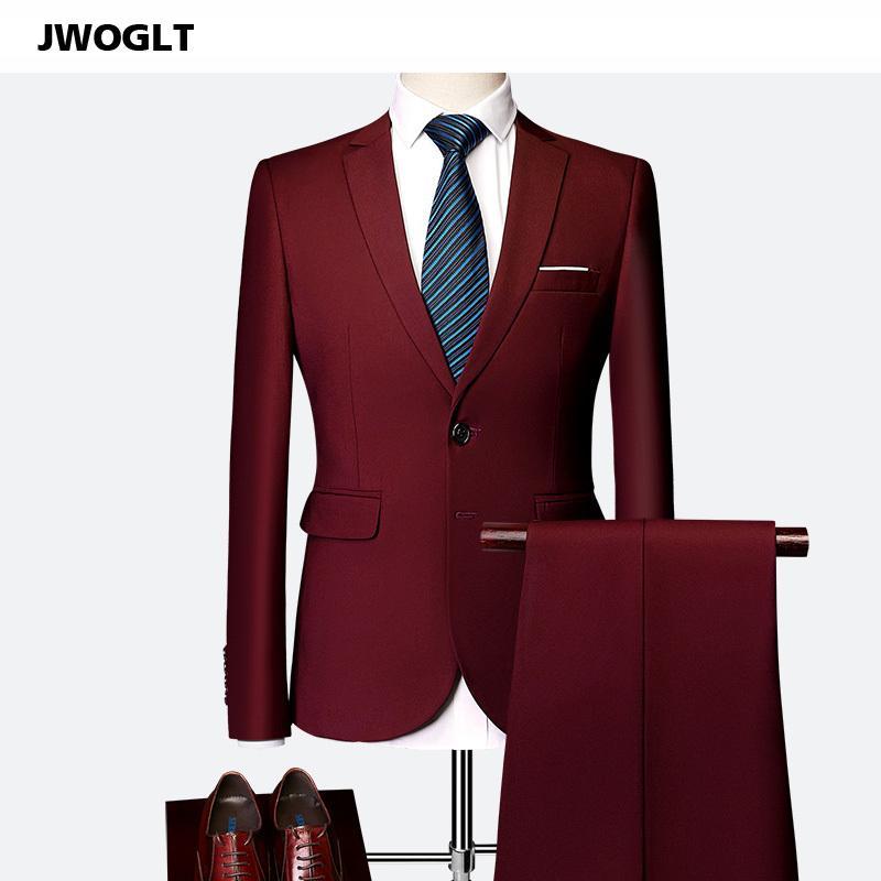 (Blazer + кальсоны) Тенденция Мужская мода Solid Colors Suit Set красивый мужской Slim Fit белый черный Blazer костюм плюс размер 5XL 6XL