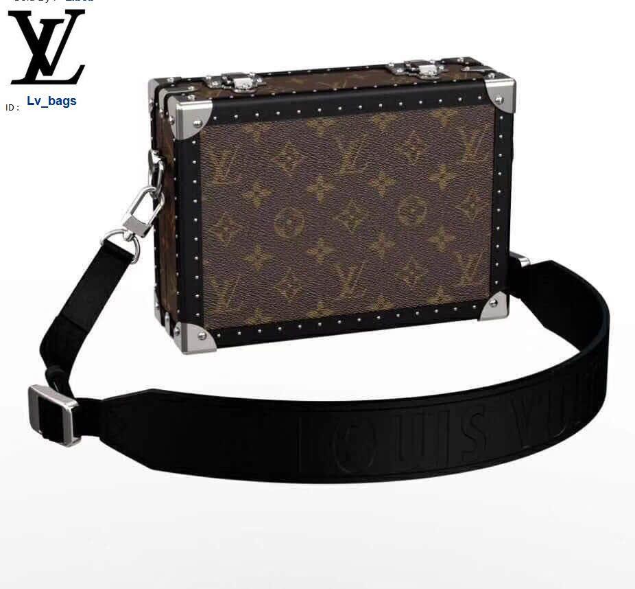 Yangzizhi New Men's Fashion Show Old Flower Brown Box Satchel Handbags Bags Top Handles Shoulder Bags Totes Evening Cross Body Bag