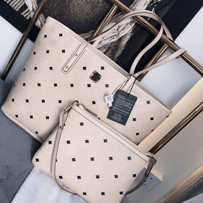 Sugao rosa bolsas de grife de luxo bolsas 2Pcs / Set mulheres de alta qualidade sacos sacola ombro 2020 novos estilos com a letra de impressão 4 cores