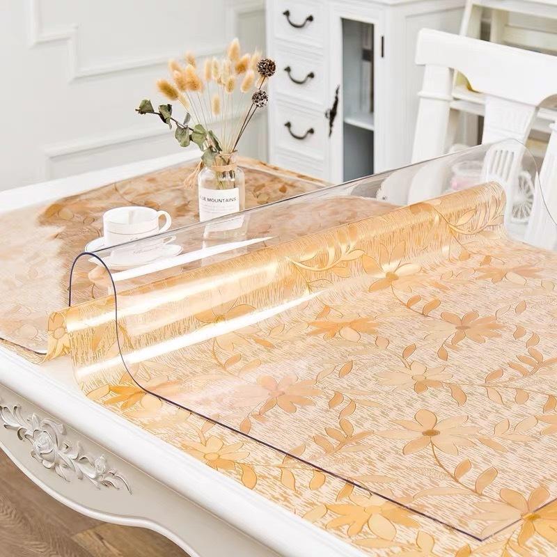 BALLE cubierta de PVC transparente Tabla Mantel Mantel protector de plástico transparente de la estera del cojín de cristal suave para Y200421 escritorio mesa de comedor
