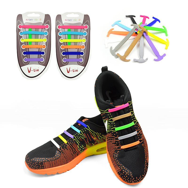 2020 Elastic Silicone Shoelaces For