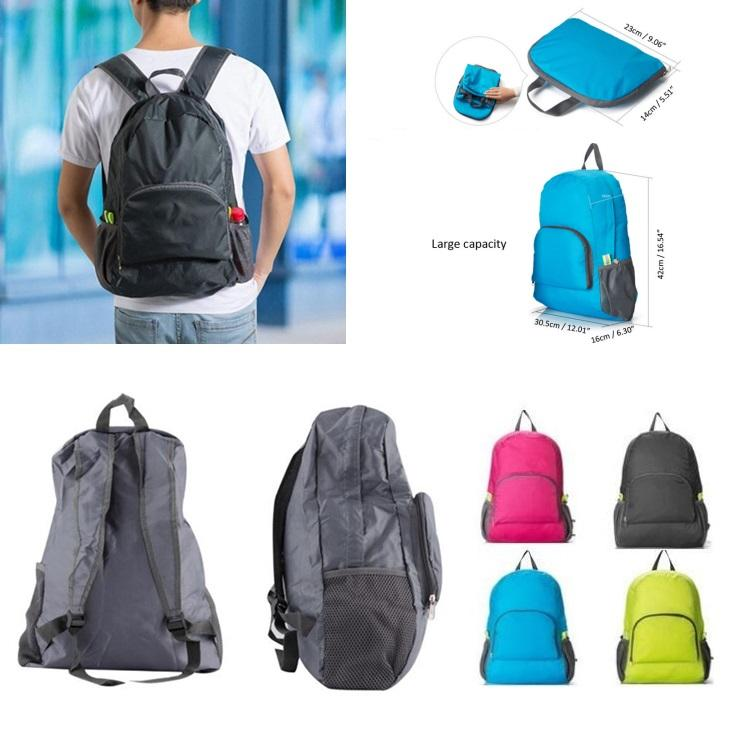 Plegable mochila bandolera portátil al aire libre que va de excursión acampar Bolsa Bolsas Deporte Gimnasia Bolsas Bolsa de almacenamiento unisex tácticos Bolsas