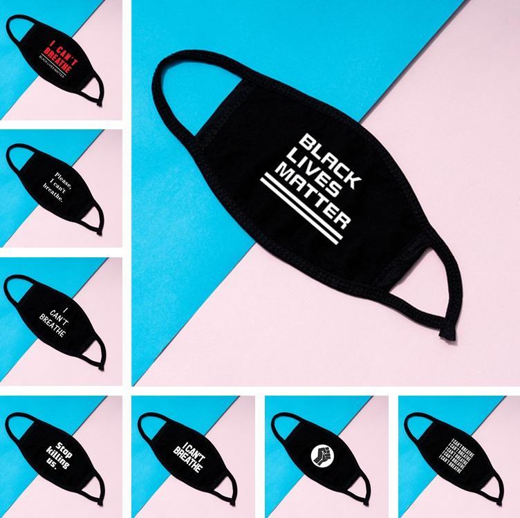 Inicio No me puedo respirar MÁSCARA vidas negro importan boca cubierta de tela a prueba de polvo del diseño la cubierta protectora exterior Cara con la boca Máscara 6090
