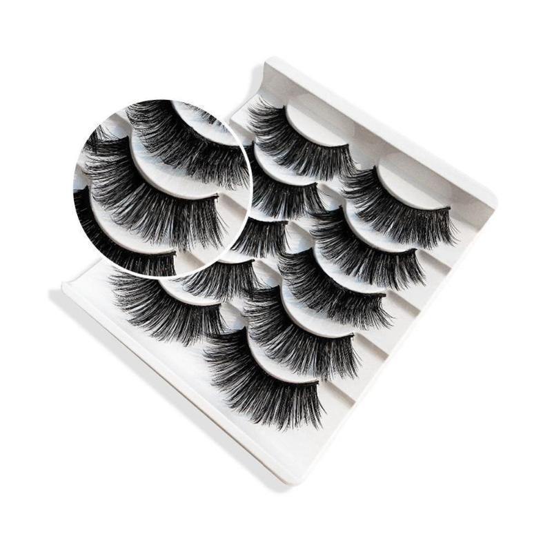 Sace Lady 5 paires 3d Cils épais naturel à long yeux Faux Cils Bushy Maquillage Beauté Outils Extension