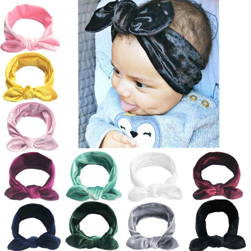 nuovi scrunchies velluto bambino nato fascia enfant a fascia fascia degli accessori bebe fille dei capelli della fascia del bambino