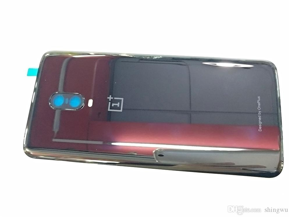 Per OnePlus 6T A6010 A6013 Sostituzione della parte posteriore della porta posteriore del coperchio della batteria