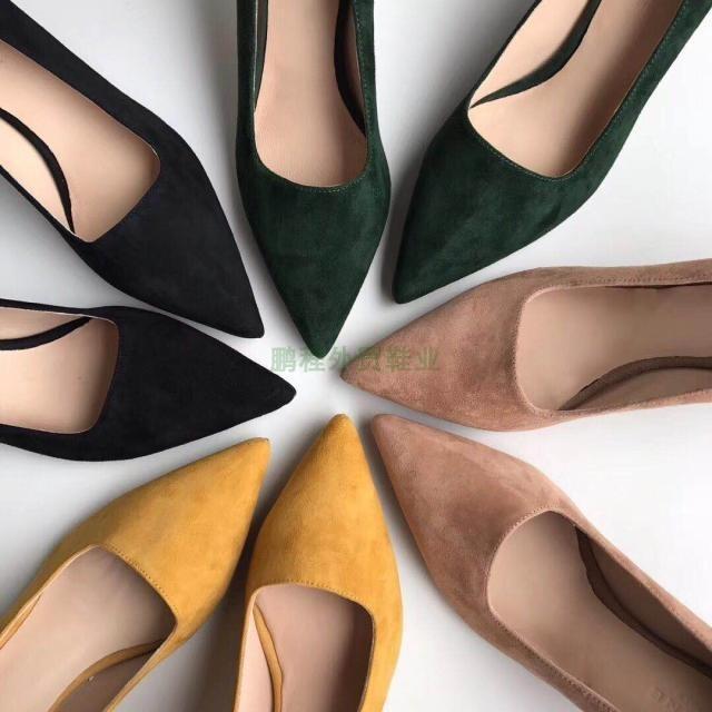 Fairy2019 Temporada para mujer Mujer Ins All-match Tide Zapato genuino Agudo Alto con zapatos de cuero Otro individual