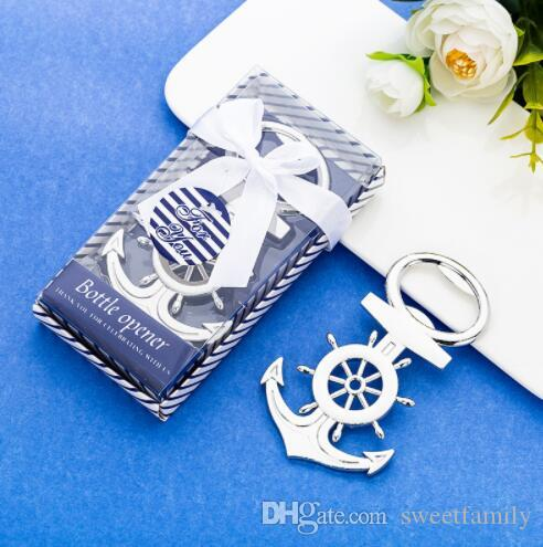 100 pcs Criativo de Metal Abridor De Garrafas De Cerveja Presente Bens De Casamento Retorno De Casamento Presente New Anchor Bottle Opener