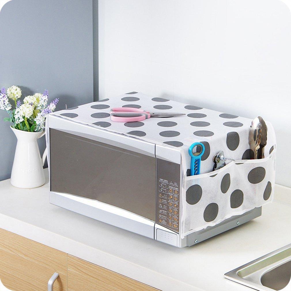 Mikrodalga Fırın Kapak Mutfak Yağ Toz Su geçirmez çift Cepler Mutfak Aksesuarları Ev Dekorasyon Malzemeleri