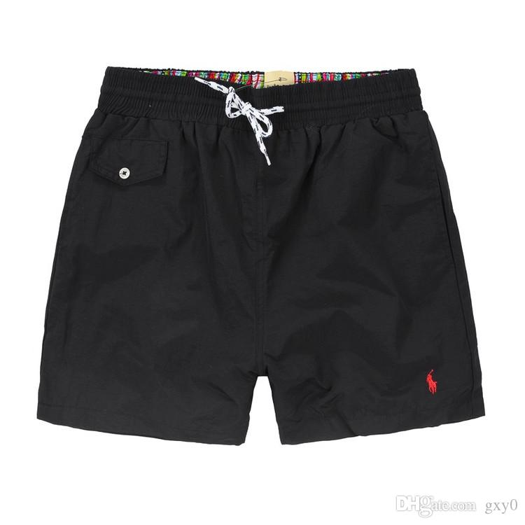 2019Summer Men Short Pants Brand Clothing Swimwear Nylon Men Brand Shorts de playa Pequeño caballo Swim Wear Pantalones cortos a bordo