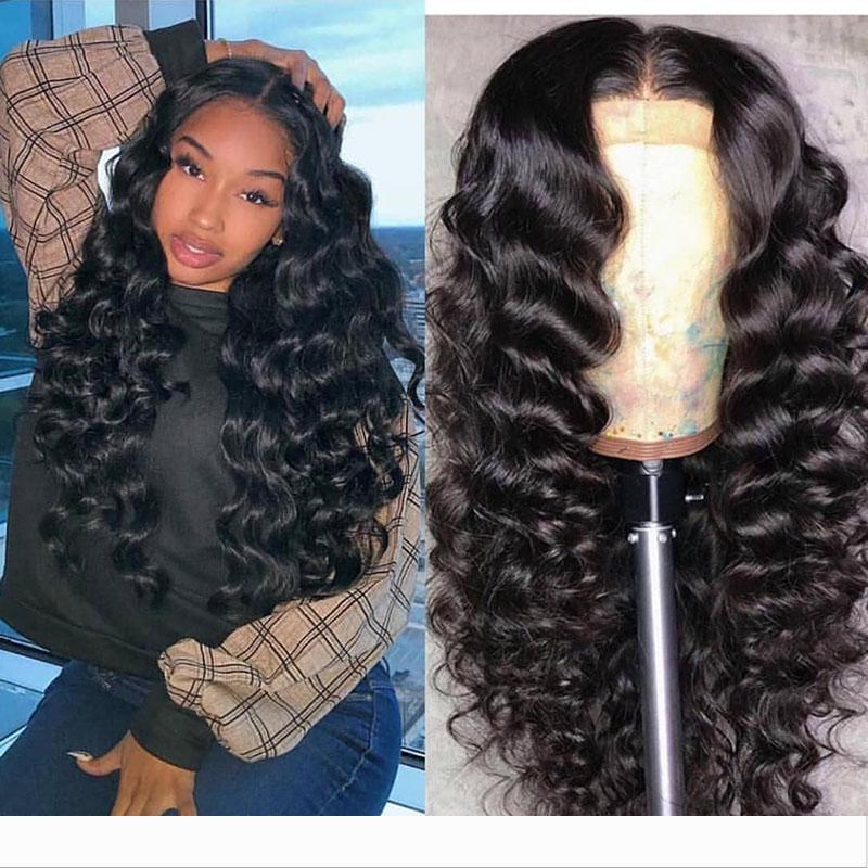 Brazilian Loose Wave Human Hair Lace Front Wigs&Full lace wigs for Black Women Pre Plucked with Natural color 9A Baby Hair 150% Density