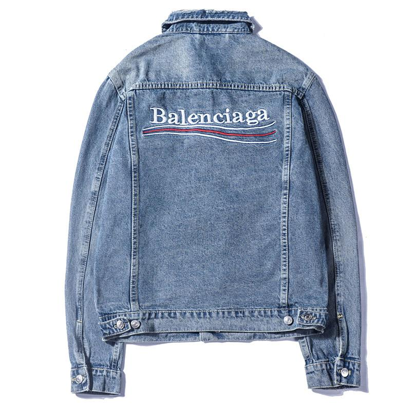 Wholesale Men Brand Jackets Fashion Letter Denim Jacket Men and Women Vintage Style Selvedge Jean Coats Brand Clothing Denim Jacket
