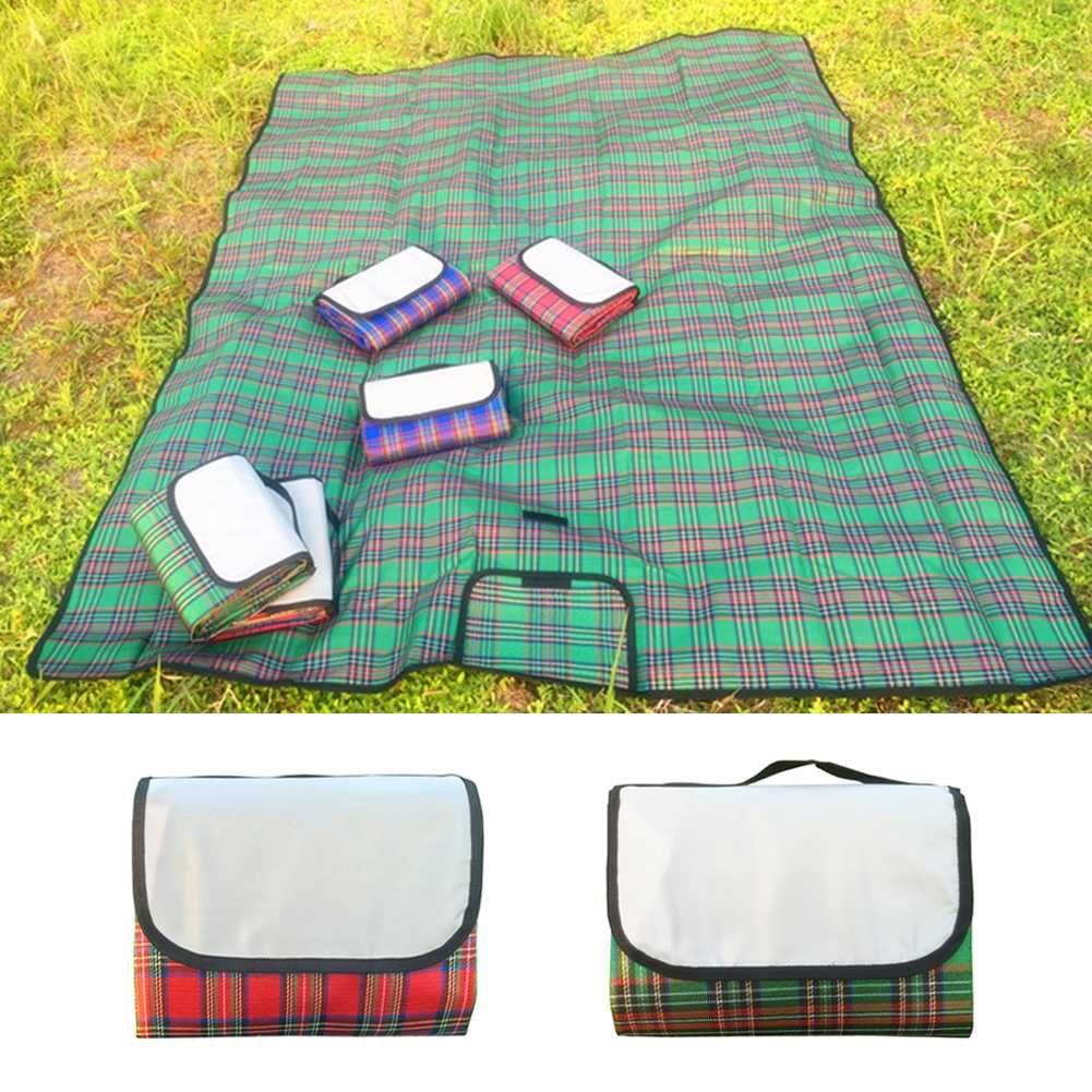 200cm * 50cm Su geçirmez Katlama Piknik Mat Açık Kamp Nem geçirmez Battaniye Taşınabilir Yürüyüş Plaj Çocuklar Tarama Pad Mat