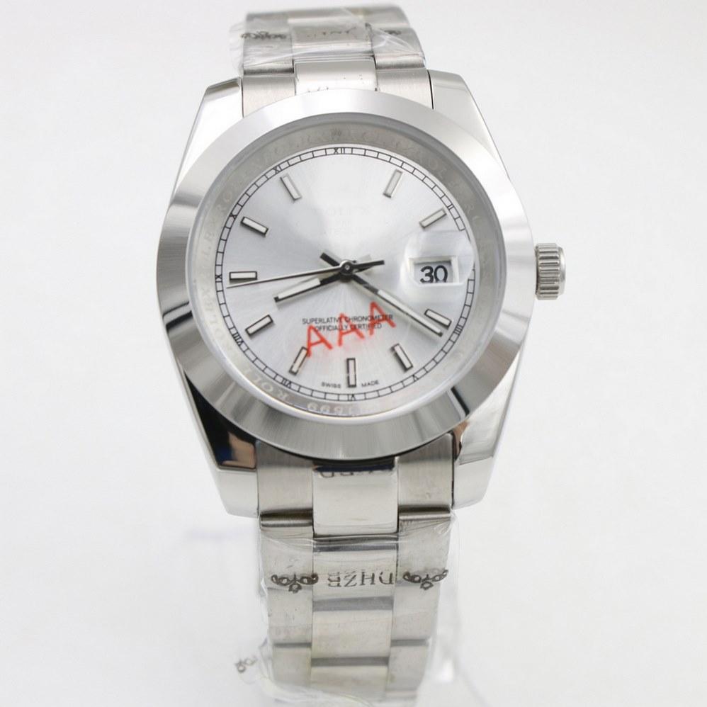 Reloj de lujo para hombre reloj de pulsera para hombre 2813 40mm mecánico automático Sin barrido de batería Auto viento DateJUST relojes de acero inoxidable 66