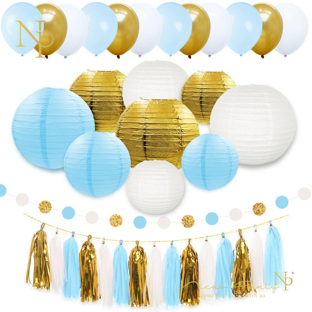 Blue White And Gold Party Decorations  from www.dhresource.com