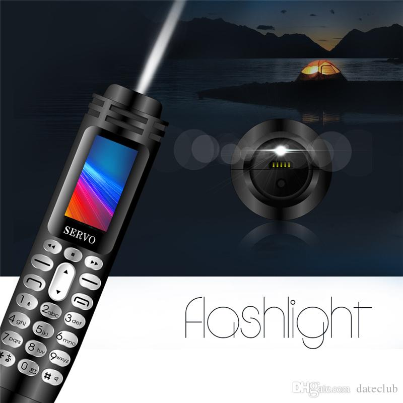 "SERVO K07 Recording Pen Mini Cellphone 0.96"" Tiny Screen GSM Dual SIM Camera Flashlight Bluetooth Dialer Mobile Phones"