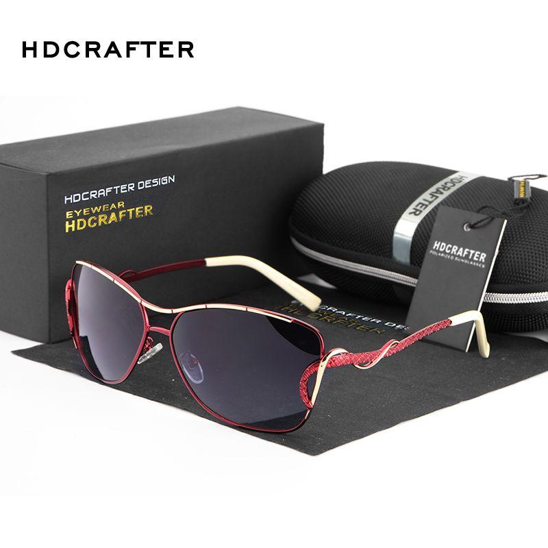 HDCRAFTER óculos de sol mulheres borboleta polarizada do vintage Moda Feminina Óculos de Sol Feminino Gradiente oversized mulheres óculos de sol