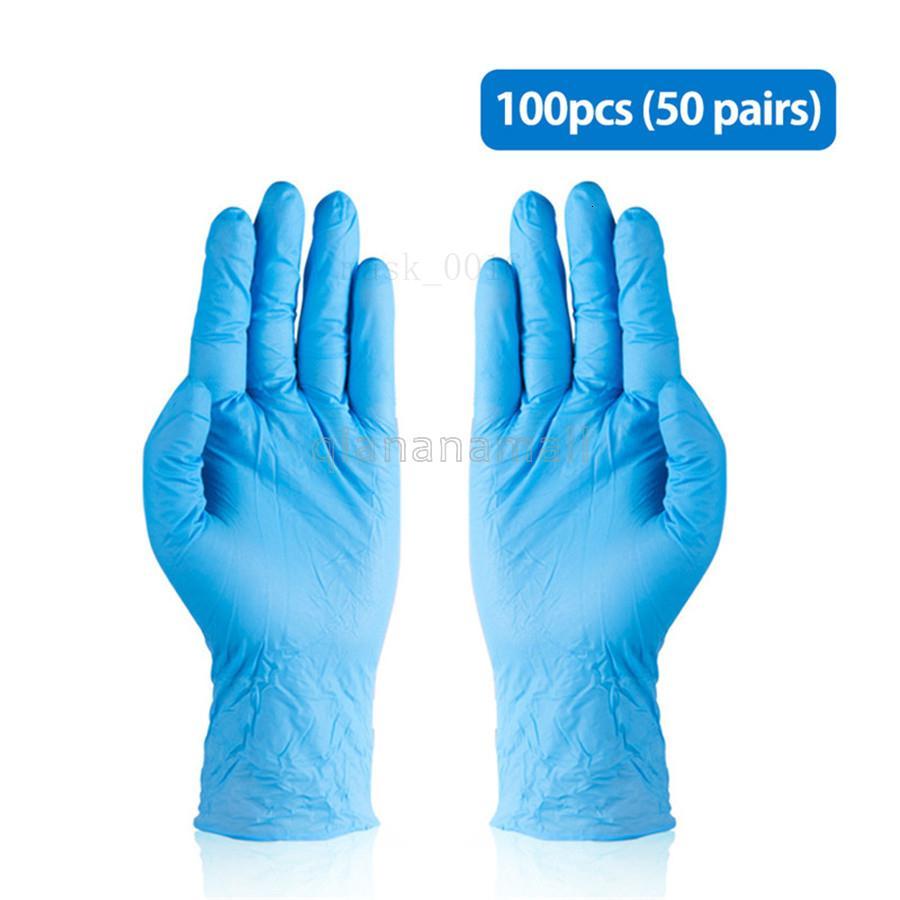 Guantes desechables de vinilo de alta resistencia Count super cómodo extra 100 piezas durable fuerte elástico,, Comida y Multi Uso QNN7