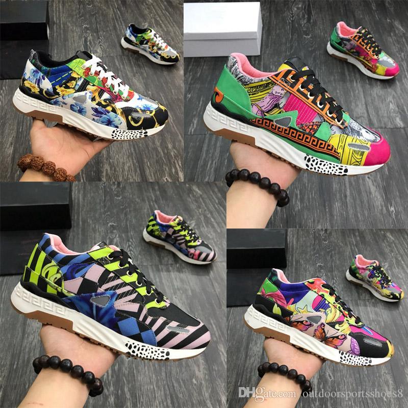 barocco print mix achilles sneaker