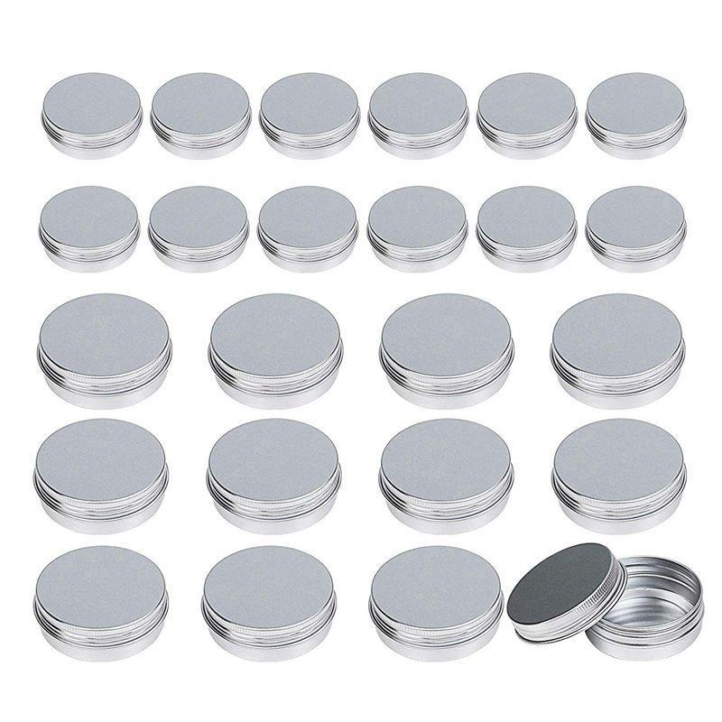 Aluminium Blechdosen, 24 Stück (1 Unze 30ml + 2 Unzen 60ml) Aluminium kosmetische Behälter Runde mit Schraubverschluss Deckel für DIY Handwerk, Kosmetik