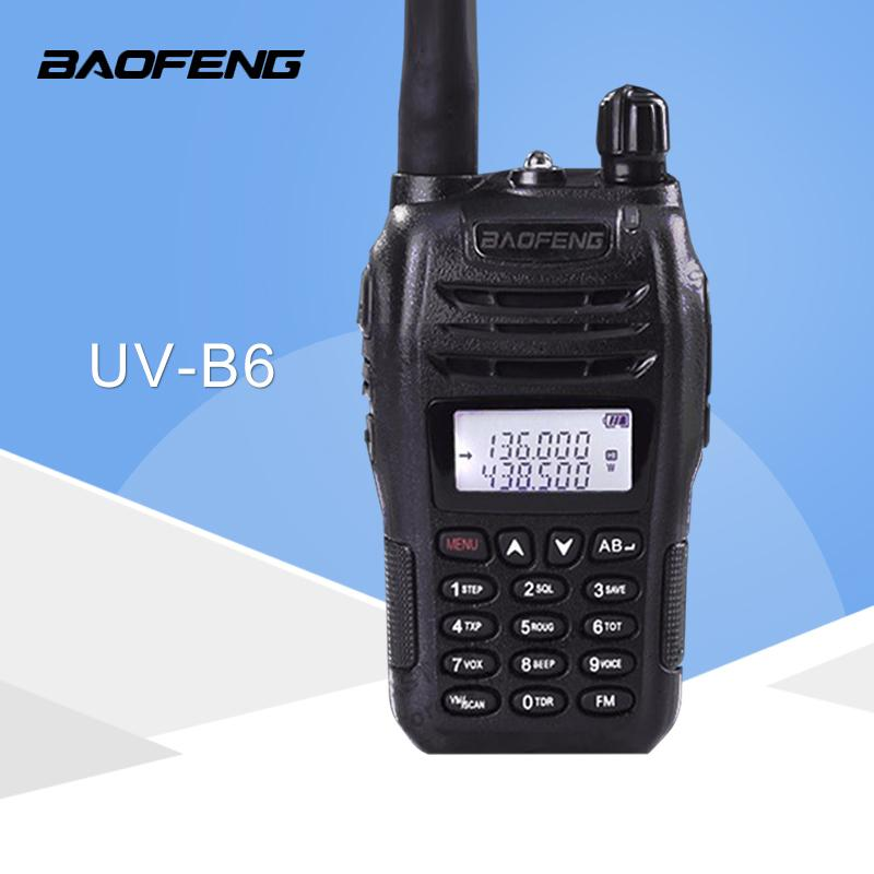 Baofeng Dual Band VHF//UHF Walkie Talkie UV-B6 136-174//400-480MHz FM Tranceiver